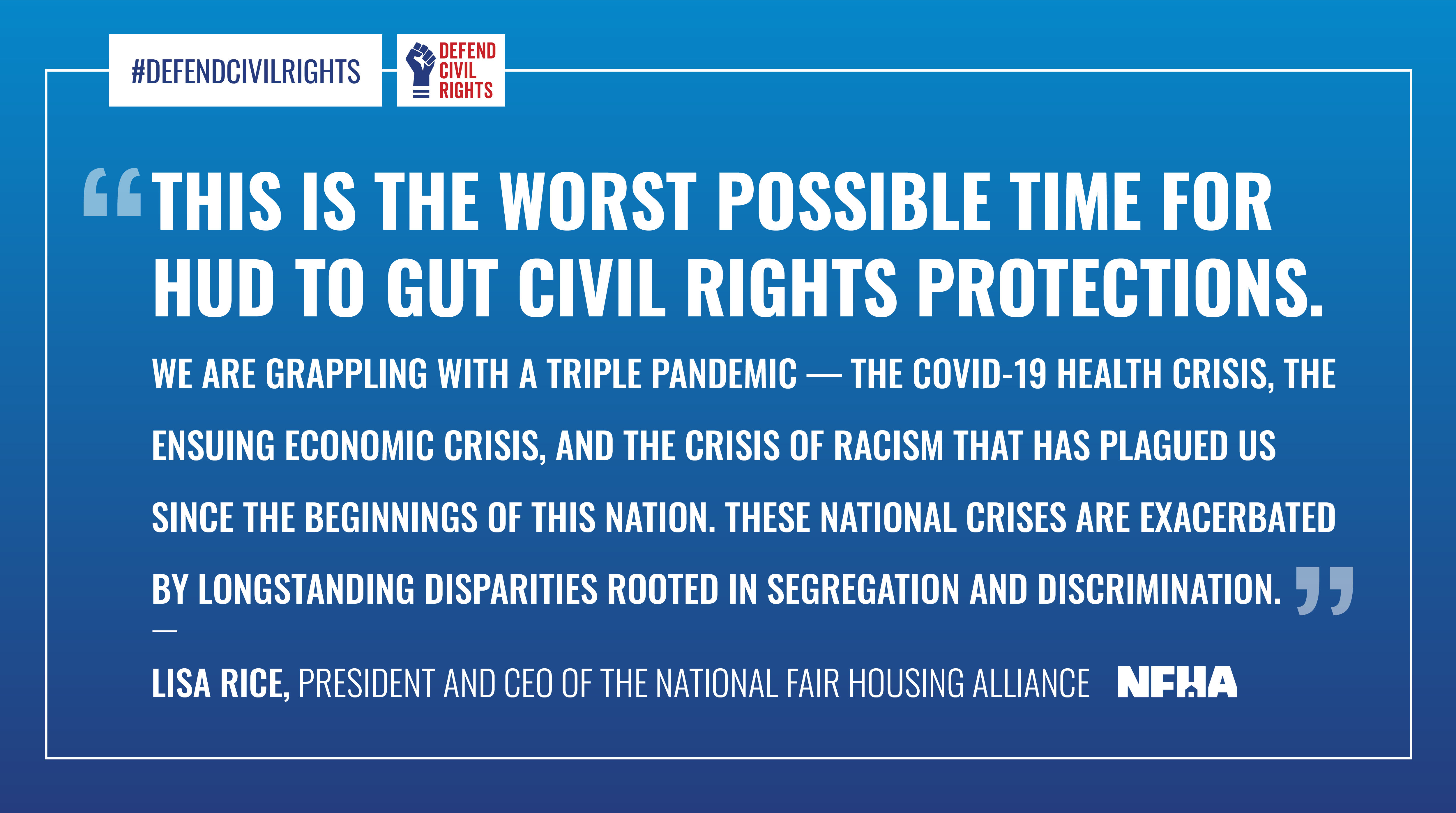 This is the worst possible time for HUD to gut civil rights protections.