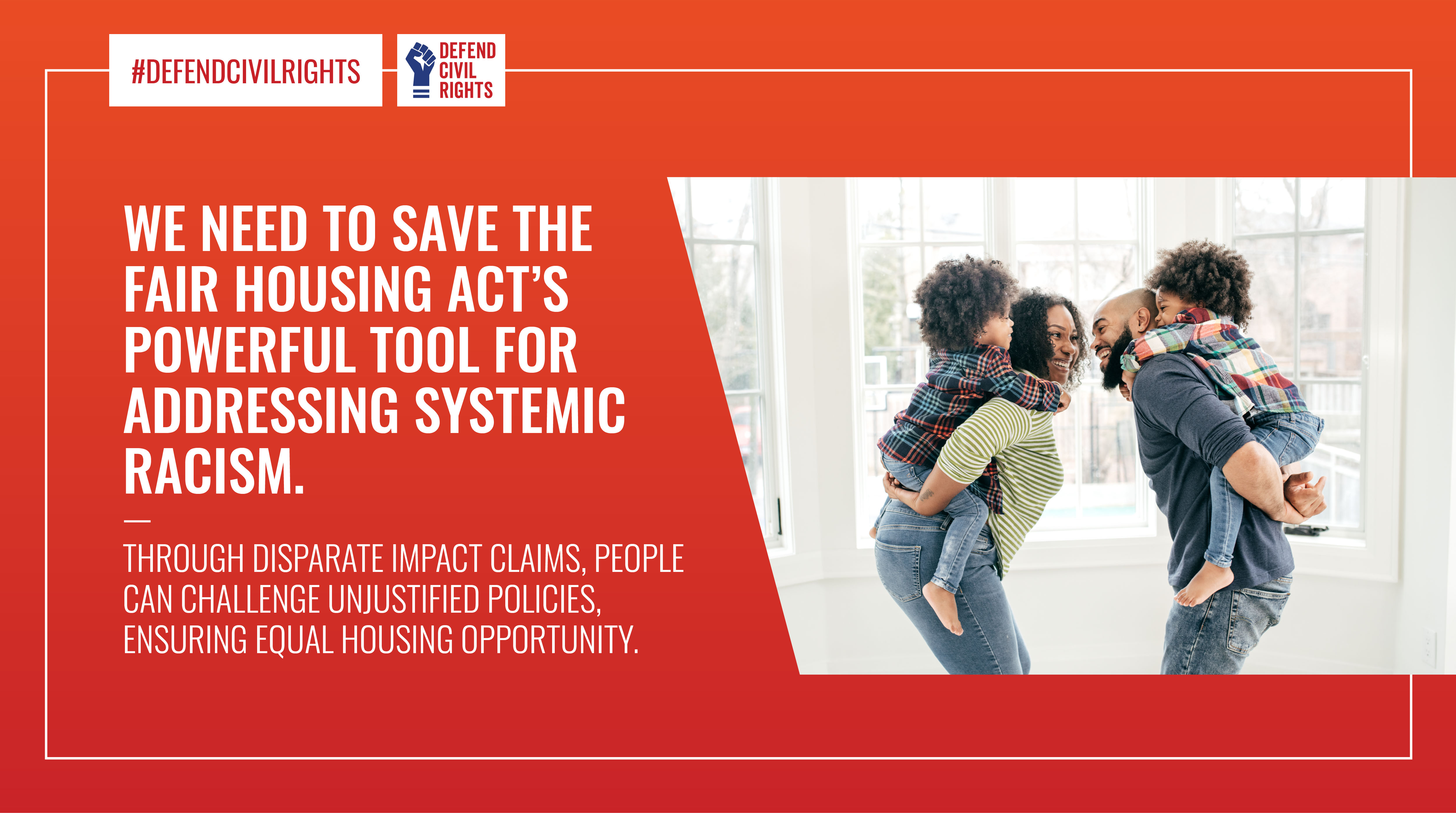 We need to save the fair housing tool for addressing systemic racism.